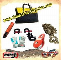 4x4越野車用品絞盤工具套裝