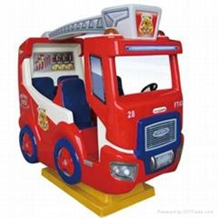 Fire fighting truck kiddie amusement ride