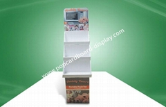 Recycled Three-tray POS Cardboard Displays , Plush Toys Floor Display Stand