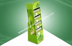 Four Shelf POP Cardboard Display Cardboard Floor Standing for Vitamin