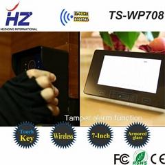 """2.4GHz 7 inch 7""""TFT rainproof wireless video door phone intercom system"""