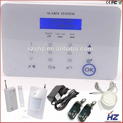 Touch keypad LCD display home security PSTN & gsm alarm system