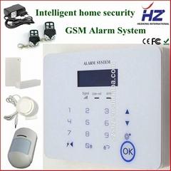 SMS remote control gsm wireless smart home burglar panic security alarm system