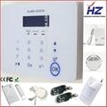 SMS remote control gsm wireless smart home burglar panic security alarm system 2