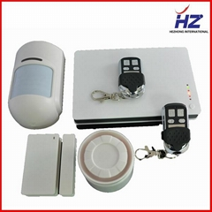 wireless intelligent secure gsm pstn dual network burglar auto dial alarm system