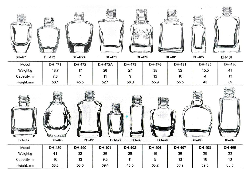 nail polish glass bottle catalogue page 17-21 2