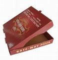 custom logo printed corrugated pizza box 5