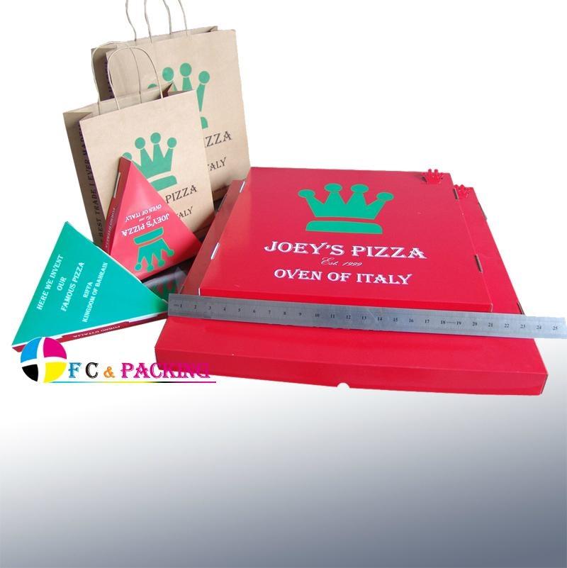 custom logo printed corrugated pizza box 3