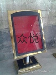 深圳不鏽鋼銘牌指示牌