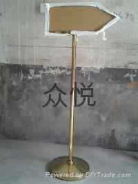沈阳不锈钢方向指示牌 2