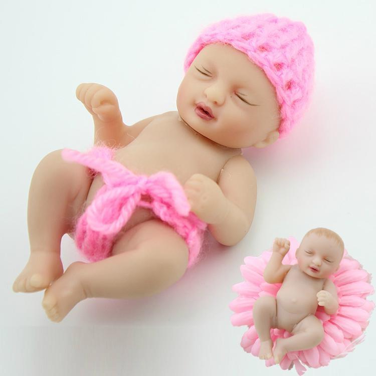 Newest design vinyl 4 inch baby dolls palm hand doll toy ...