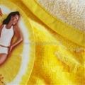 纯棉圆形活性印花沙滩巾 2