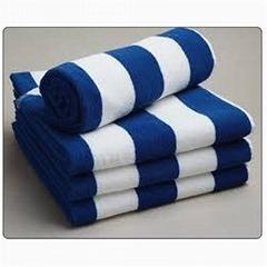 純棉條紋沙灘巾促銷