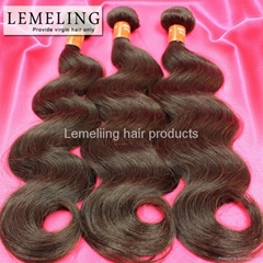 Brazilian virgin hair body wave dyeable grade 6A human hair weaves