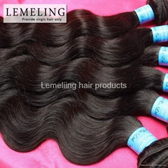 """Peruvian virgin hair Body Wave Color 1B Dyeable Human Hair Extension 12""""-28"""""""