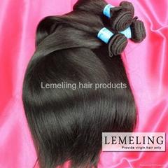 Peruvian Virgin hair Straight 3 pc full head dyeable unprocessed human hair weft