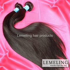 Top quality Peruvian Virgin Human Hair Weaves100g/PC Dyeable and Tangle Free