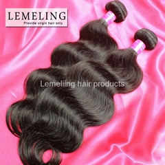 Virgin Remy Malaysian hair weave natural brown body wave curl hold well washing