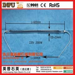 碳纤维石英玻璃电加热管-直形