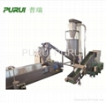 Forced feed plastic recycling machine