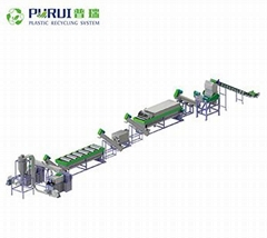 PP non-woven bags washing lines plastic recycling