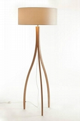 2014 Modern Design Natural wood Floor Lamp(LBMD-ZY)