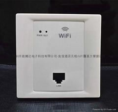 歐騰達WPL-6002無線面板AP 酒店無線入牆式AP