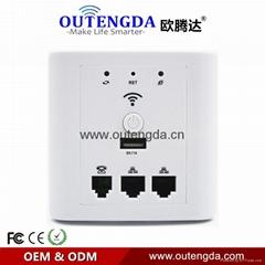 歐騰達WPL6009A RippleOS面板ap牆壁式無線ap酒店賓館客房wifi覆蓋廣告路由器