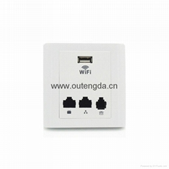mini hotel rooms wireless ap router in wall wifi access point 802.3af 48V POE