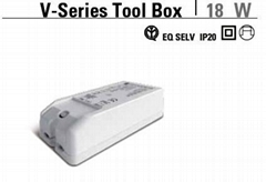 Led power supply V-Series Tool Box 18 W