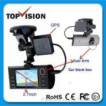2.7inch GPS G-sensor dual lens HD 1080P car dvr black box