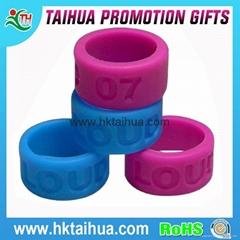 Custom Silicone Thumb Ring Bracelet Finger Ring