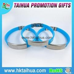 Printed Metal Aluminum Silicone Bracelet