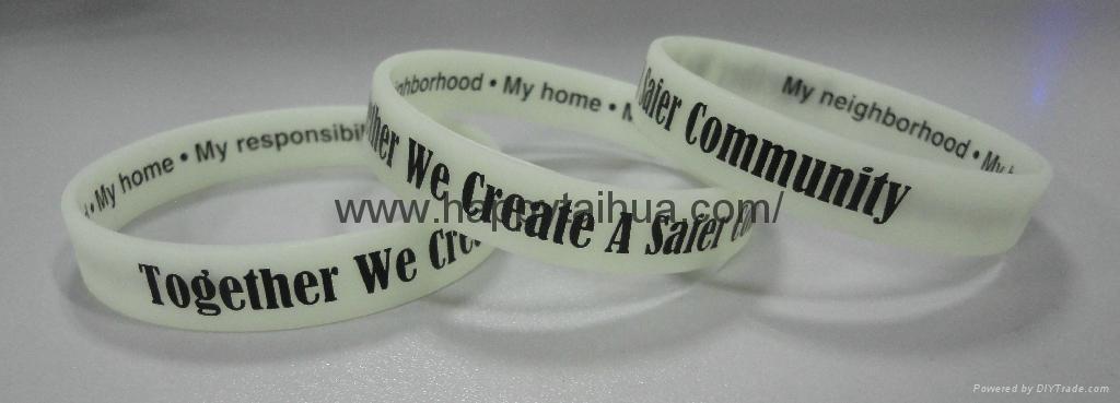 custom screen printed silicone bracelet,wristband 1