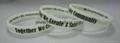 custom screen printed silicone bracelet