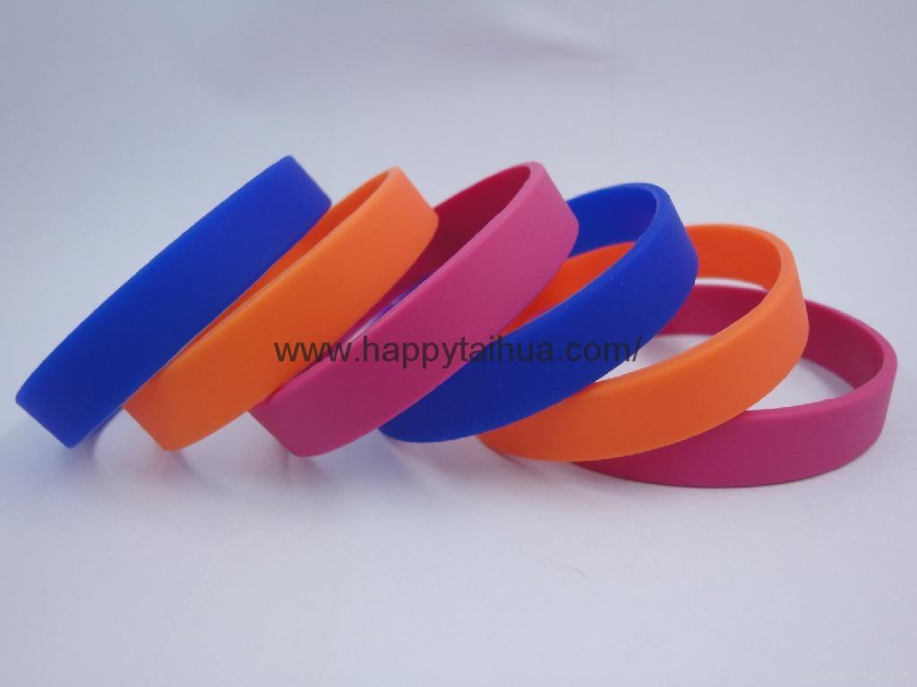 custom screen printed silicone bracelet,wristband 3