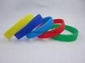 custom screen printed silicone bracelet,wristband 4