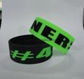 custom one inch printed silicone bracelet,wristband 4