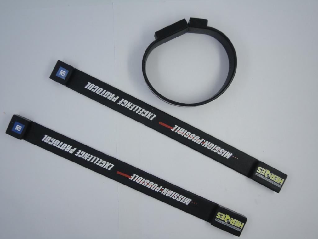 custom USB printed silicone bracelet,wristband 1