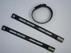 custom USB printed silicone bracelet,wristband