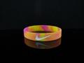 custom camouflash printed silicone bracelet,wristband 1