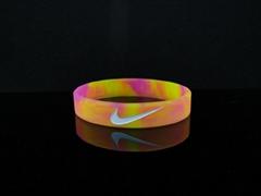 custom camouflash printed silicone bracelet,wristband