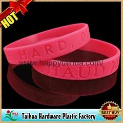 custom embossed printed silicone bracelet,wristband