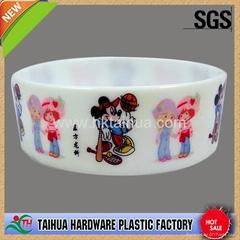 One inch silicone bracelet