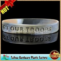 custom camouflags silicone bracelet