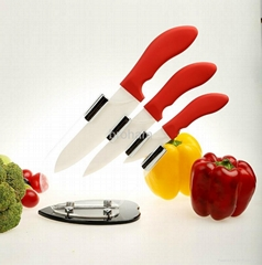 New  Ceramic Knife Set with Knives Peeler and Stand