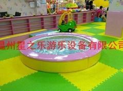 圆形水床淘气堡儿童乐园(进口塑料;CE认证)