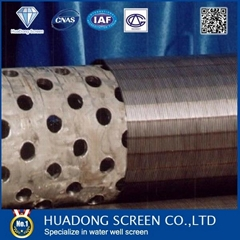 Perforated casing pipe for water