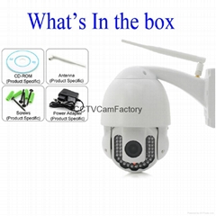 5X optical zoom 40M night vision outdoor waterproof Wireless Megapixel 720P Wifi