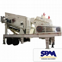 SBM widely used and Large Capacity Mobile Impact Crusher for sale